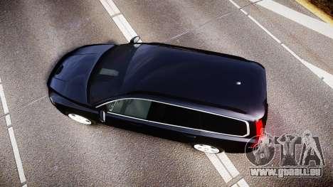 Volvo V70 2014 Unmarked Police [ELS] pour GTA 4 est un droit