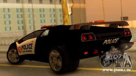 Lamborghini Diablo Police SA Style pour GTA San Andreas laissé vue