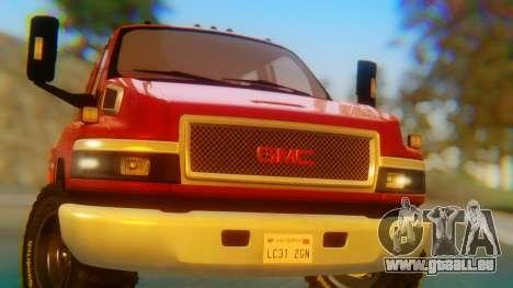 GMC Topkick C4500 pour GTA San Andreas vue arrière