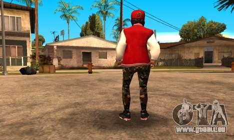 Army Girl pour GTA San Andreas troisième écran