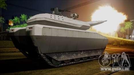 PL-01 Concept Desert pour GTA San Andreas sur la vue arrière gauche