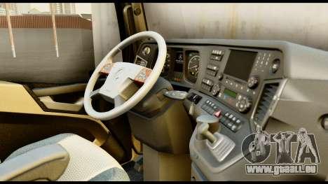 Mercedes-Benz Actros MP4 4x2 Exclusive Interior pour GTA San Andreas vue de droite