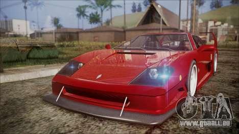 Turismo F40 für GTA San Andreas