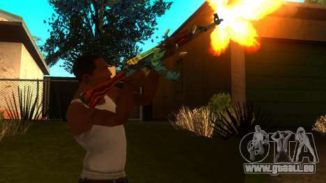 AK-47 Serpent de Feu pour GTA San Andreas troisième écran