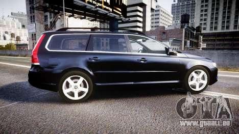 Volvo V70 2014 Unmarked Police [ELS] pour GTA 4 est une gauche