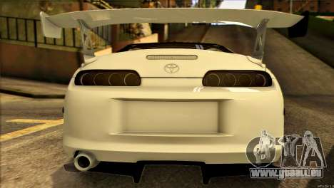 Toyota Supra 1998 E-Design pour GTA San Andreas vue intérieure