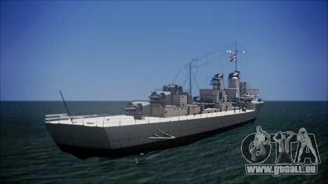 Type 34 Destroyer für GTA San Andreas linke Ansicht