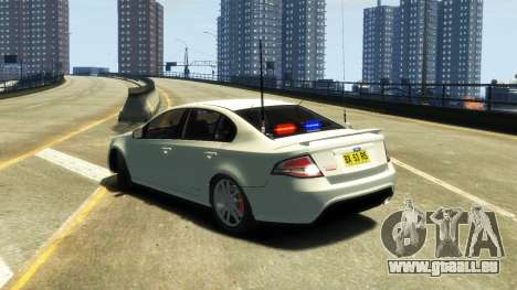 Ford Falcon FG XR6 Turbo Unmarked Police [ELS] pour GTA 4 est une gauche