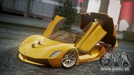 Grotti Turismo RXX-K für GTA San Andreas Rückansicht