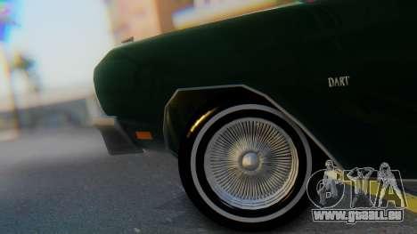 Dodge Dart Coupe pour GTA San Andreas vue arrière