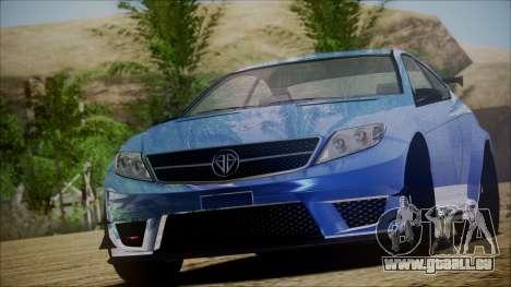 Benefactor Schwartzer Gray Series für GTA San Andreas
