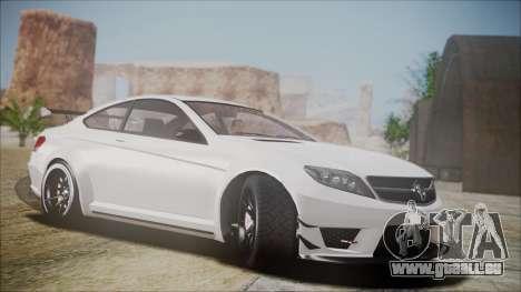 Benefactor Schwartzer Gray Series pour GTA San Andreas vue arrière