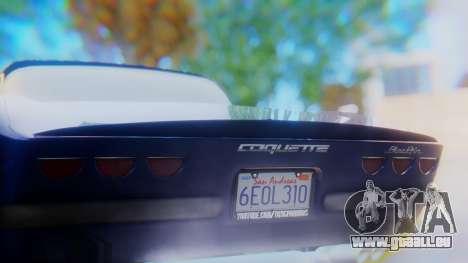 Invetero Coquette BlackFin v2 GTA 5 Plate pour GTA San Andreas vue de dessous