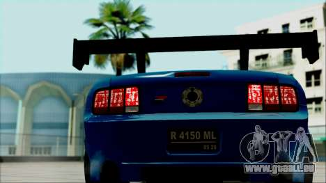 Ford Mustang GT Modification für GTA San Andreas Rückansicht