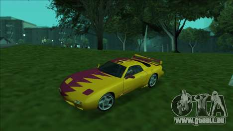 ZR-350 Double Lightning pour GTA San Andreas roue