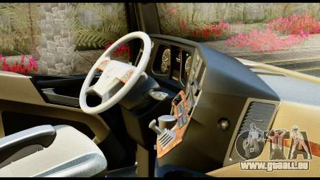 Mercedes-Benz Actros MP4 6x4 Exclucive Interior für GTA San Andreas rechten Ansicht