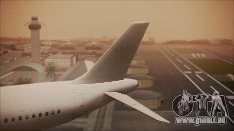 Airbus A320-200 pour GTA San Andreas sur la vue arrière gauche
