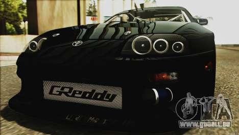 Toyota Supra 1998 E-Design für GTA San Andreas Unteransicht