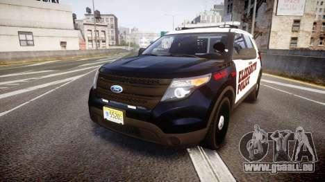 Ford Explorer 2011 Elizabeth Police [ELS] pour GTA 4