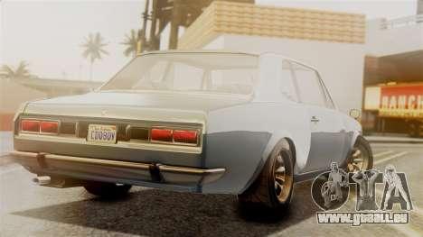 Vulcar Warrener GT 1500 (CT1) pour GTA San Andreas laissé vue