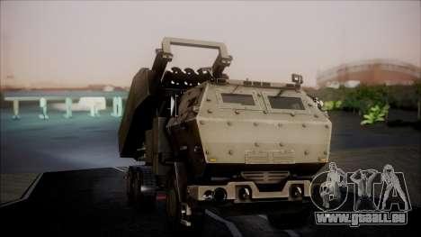 M142 HIMARS Desert Camo pour GTA San Andreas vue de droite