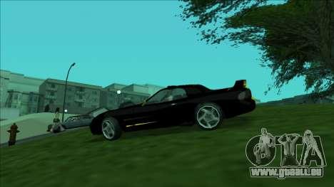 ZR-350 Double Lightning pour GTA San Andreas vue intérieure