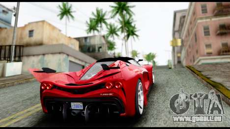 Grotti Turismo RXX-K v2.0 pour GTA San Andreas vue intérieure