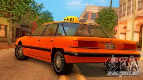 Taxi Intruder pour GTA San Andreas laissé vue