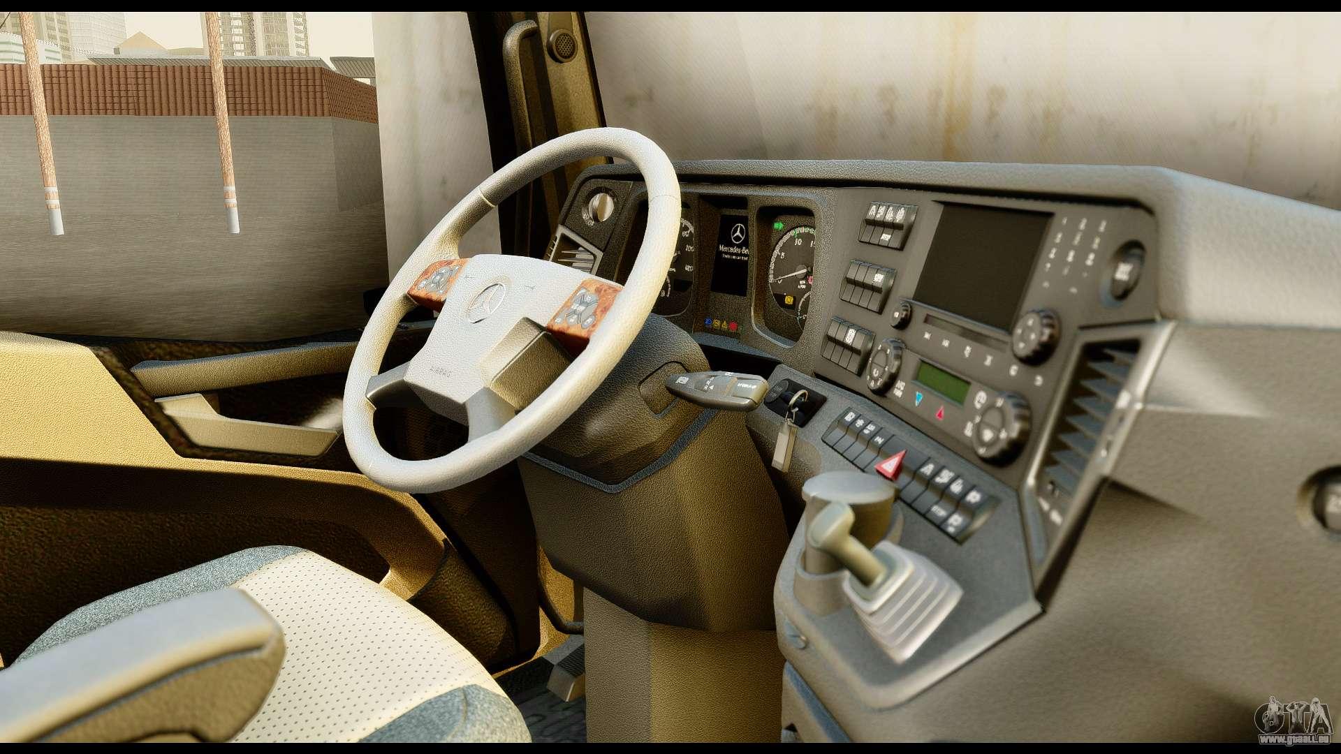 Mercedes Benz Actros Mp4 4x2 Exclusive Interior Pour Gta