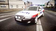 Volvo V70 2014 Norwegian Police [ELS] für GTA 4