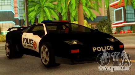 Lamborghini Diablo Police SA Style für GTA San Andreas
