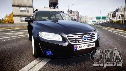 Volvo V70 2014 Unmarked Police [ELS] pour GTA 4