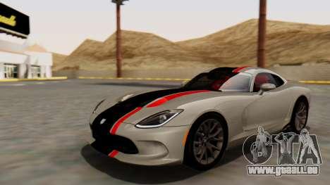 Dodge Viper SRT GTS 2013 HQLM (HQ PJ) pour GTA San Andreas vue de dessus