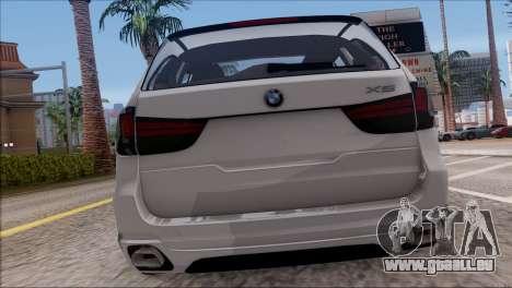 BMW X5 F15 BUFG Edition für GTA San Andreas rechten Ansicht