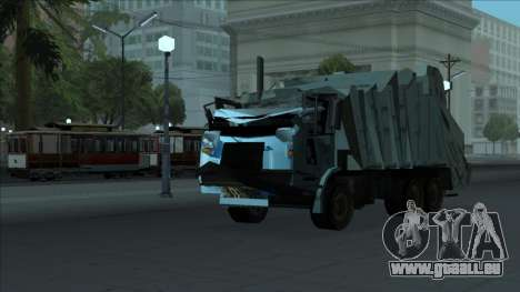TDK Volvo Xpeditor Garbage Crash Version pour GTA San Andreas vue intérieure