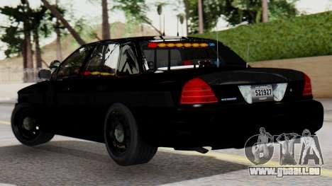 FBI Rancher 2013 pour GTA San Andreas laissé vue