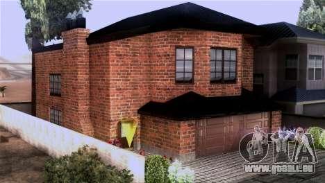 CJs New Brick House pour GTA San Andreas deuxième écran