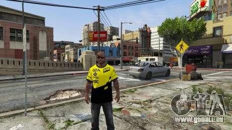 GTA 5 T-shirt pour les Natus Vincere Franklin troisième capture d'écran