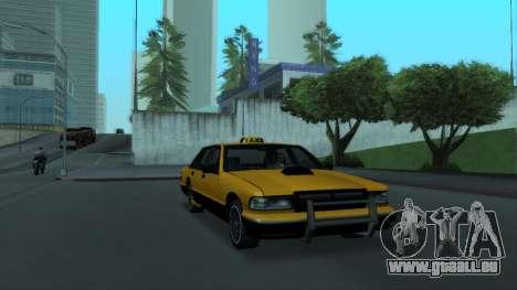 New Taxi pour GTA San Andreas vue intérieure