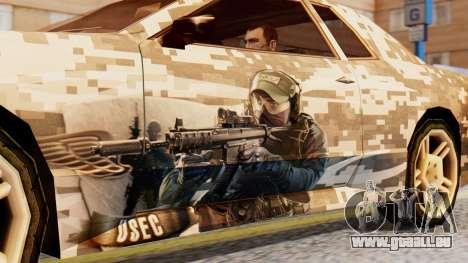 Elegy Contract Wars U.S.E.C Vinyl für GTA San Andreas zurück linke Ansicht