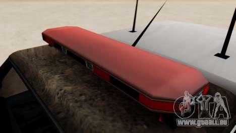 Police Ranger with Lightbars pour GTA San Andreas vue de droite