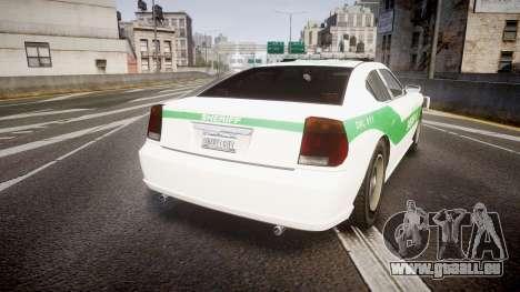 Bravado Buffalo Police [ELS] pour GTA 4 Vue arrière de la gauche
