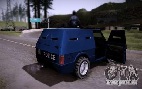 La Voiture Blindée. pour GTA San Andreas vue arrière