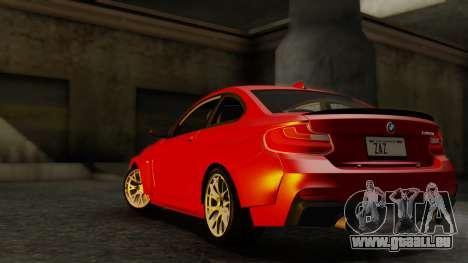 BMW M235i F22 Sport 2014 pour GTA San Andreas vue de droite