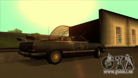 FreeShow Feltzer pour GTA San Andreas vue de dessous