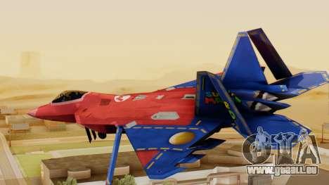 F-22 Raptor MARIO pour GTA San Andreas laissé vue