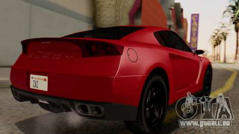 GTA 5 Annis Elegy RH8 IVF pour GTA San Andreas laissé vue