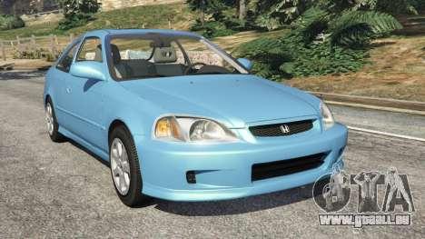 Honda Civic Si 1999 v1.1 pour GTA 5