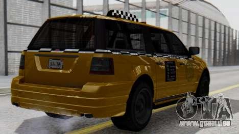 Vapid Landstalker Taxi SR 4 Style pour GTA San Andreas laissé vue