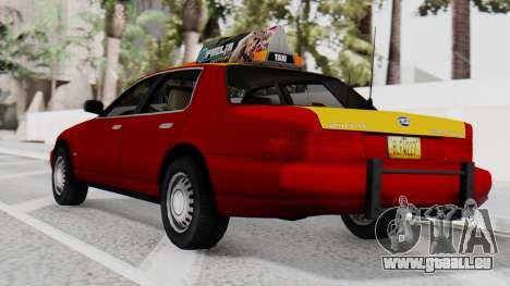 Dolton Broadwing Taxi pour GTA San Andreas laissé vue